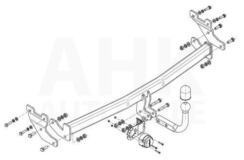 AHK Kpl. Für Hyundai i10 14-17 Anhängerkupplung starr+ES 13p spez