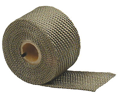 "DEI 010126 1/"" x 25/' Titanium LR Lava Header Exhaust Heat Carbon Fiber Look Wrap"