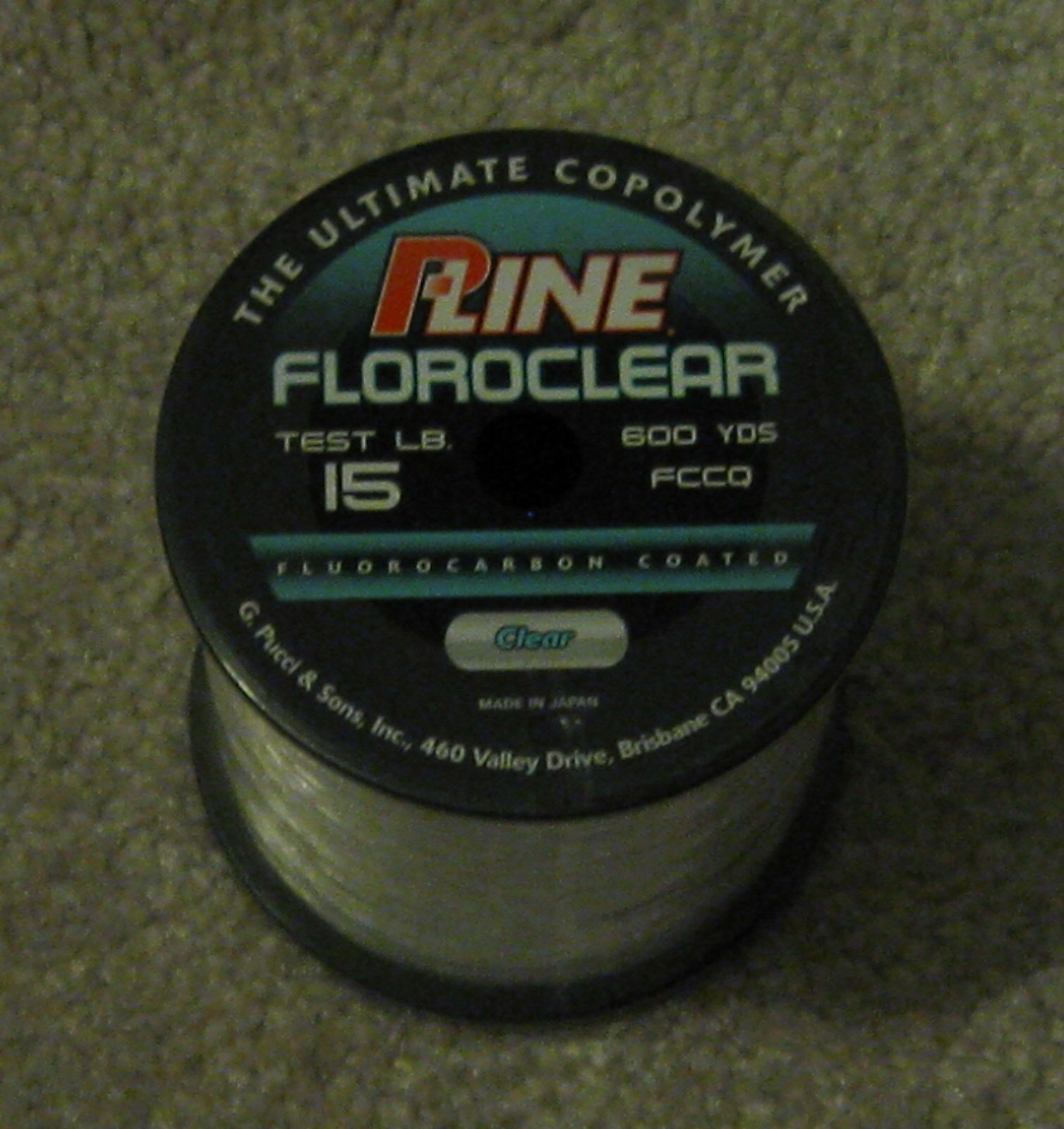 P-Line Floroclear Fluorocarbon Coated Copolymer Fishing Line Clear 15lb 600yd for sale online