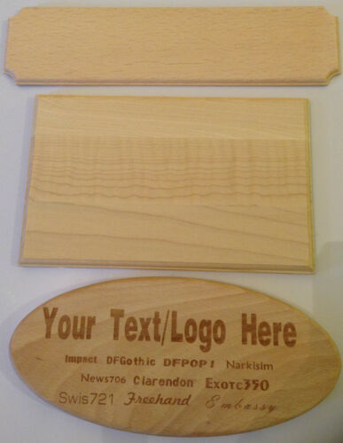 Customised Personalised Engraved Solid Wood Plaque Door Gate Sign Number Craft