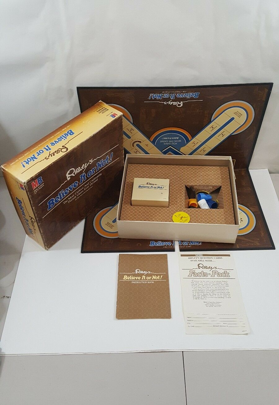 Vintage RIPLEY'S BELIEVE IT OR NOT BOARD GAME - COMPLETE 1984