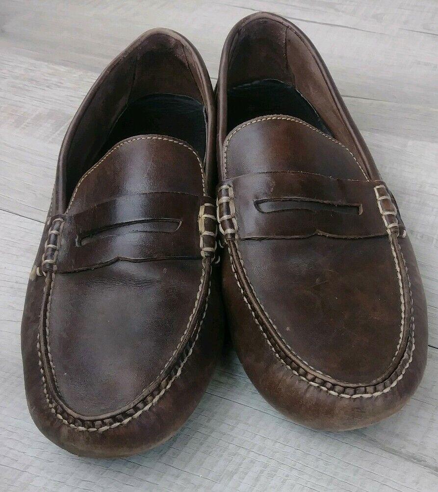 Cole Haan NikeAir Tipo Mocasín De Cuero Marrón Para Hombres Talla 11.5