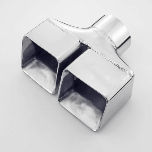 """3/"""" Inlet QUAD Square Dual Wall Stainless Steel Exhaust Tips for Dodge Challenger"""