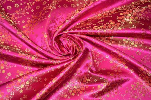 Premium Classic Blossom Chinese Satin Brocade Dress Fabric Jaquard 112 cm wide