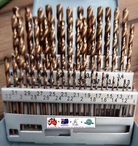 5pcs #27 Cobalt Screw Machine Parabolic Flute TiN Gold-P Drills YG1