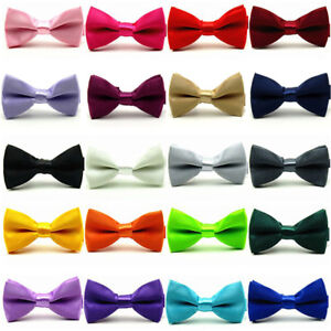 Baby-Boys-Kids-Child-Satin-Pre-Tied-Bow-Tie-Wedding-Party-Tuxedo-Bowties-Necktie