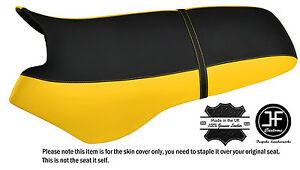 BLACK & YELLOW CUSTOM FITS SEA DOO XP 93-96 AUTOMOTIVE VINYL SEAT COVER + STRAP