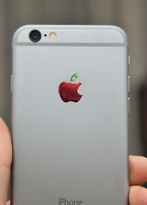 3x3D-Abovedado-Apple-Natural-Logo-Pegatinas-para-Iphone-Trasero-Size-15-5x12-6