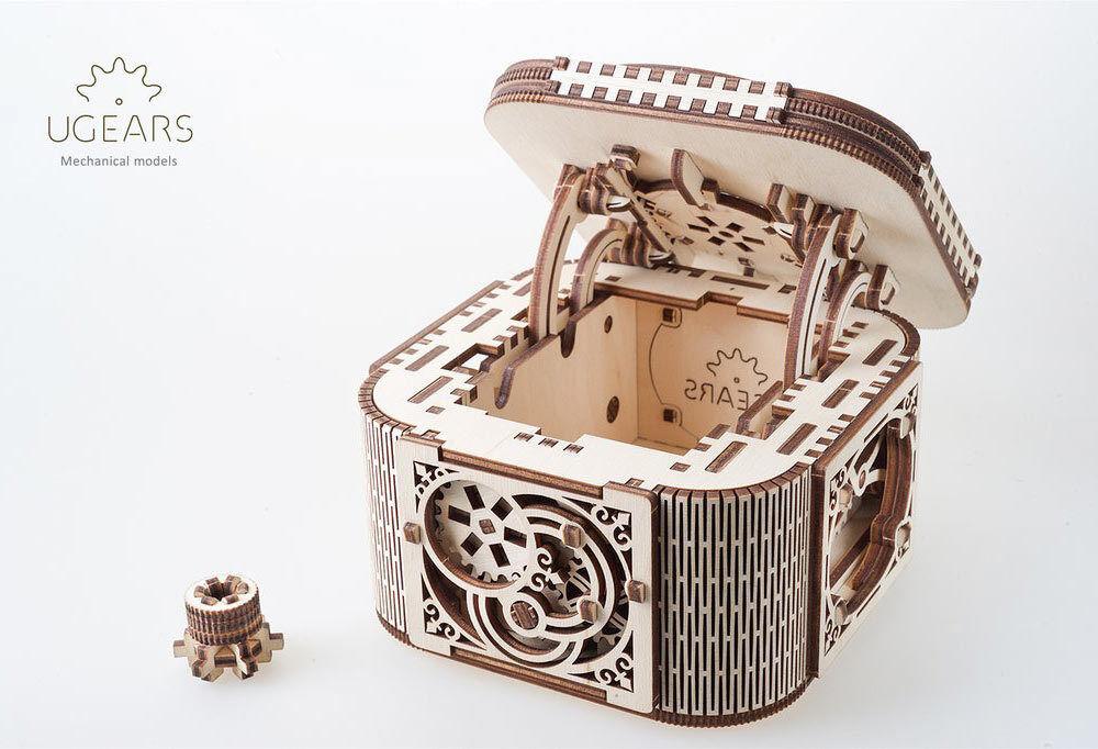 UGEARS UGEARS UGEARS Treasure box - Mechanical Wooden Model Kit 70031 bd8b41