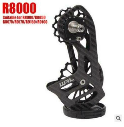Road Bike Rear Derailleur Oversize Ceramic Bearing 17T Pulley Carbon Cage
