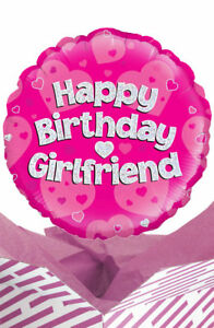 Image Is Loading Happy Birthday Girlfriend Balloon In A Box Gift