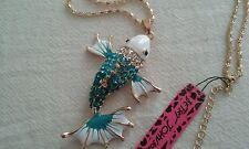 """Betsey Johnson""  Koi Fish Necklace"