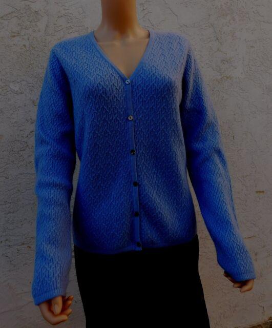 CHARTER CLUB Cardigan New Wisteria Blue Violet Cashmere Sweater sz L 12 14