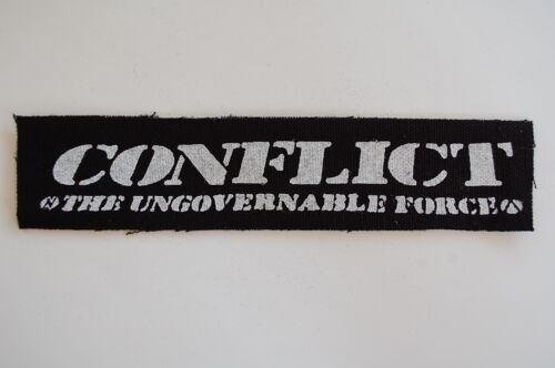 """CP79 Conflit Tissu Patch Sew On Badge Punk Rock ICONS OF FILTH environ 7/""""X1.5/"""""""