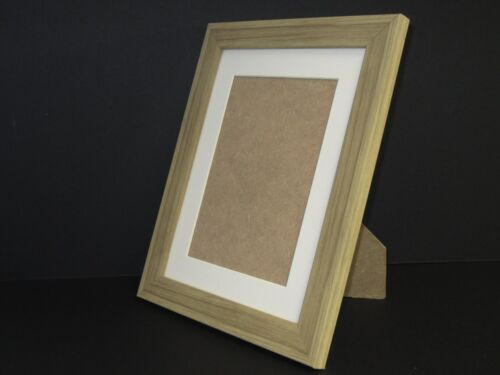 Oak Effect 10x12 Picture Photo Frame  Mount 7.75x9.75 Free Standing