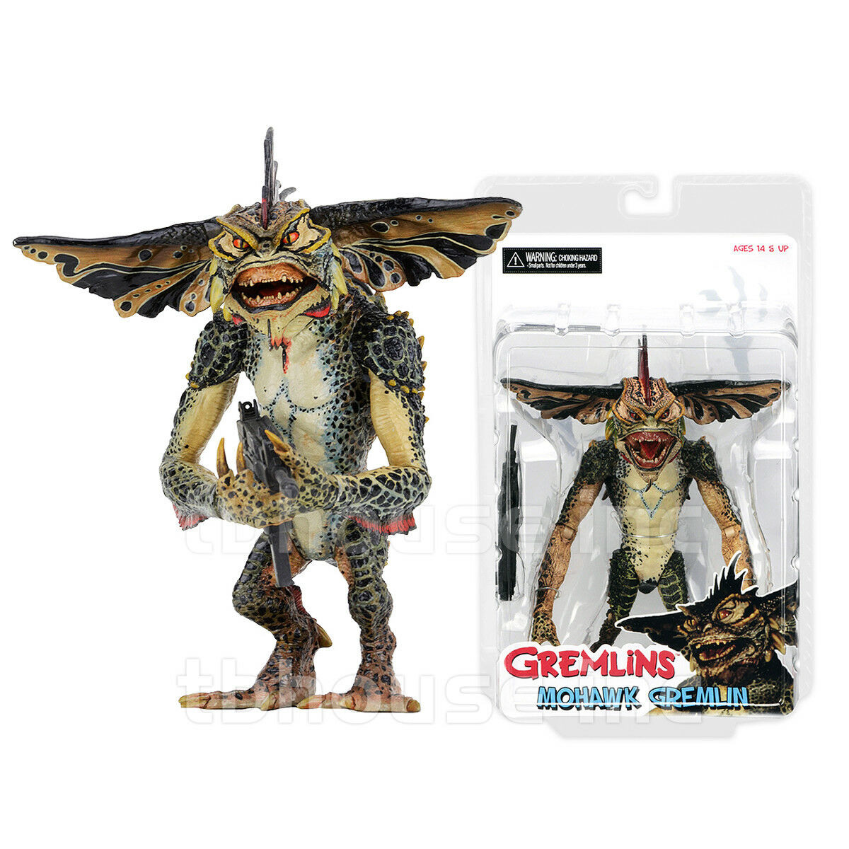 7  MOHAWK figure GREMLINS 2 leader THE NEW BATCH stripe GREMLIN mogwai NECA 2017