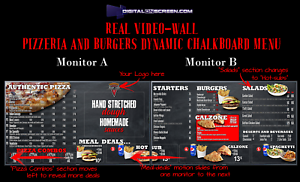 Restaurant-digital-menu-fully-prepared-Real-Video-Wall-display-board