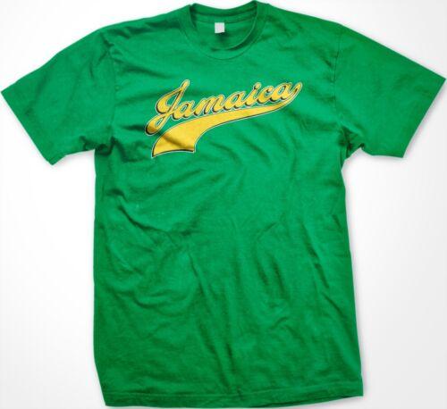 Men/'s T-shirt Jamaica Jamaican Varsity Script Logo Nationality Ethnic Pride