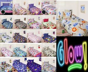Design-Choice-Boys-Girls-Glow-In-The-Dark-Quilt-Doona-Cover-Set-Single-Double