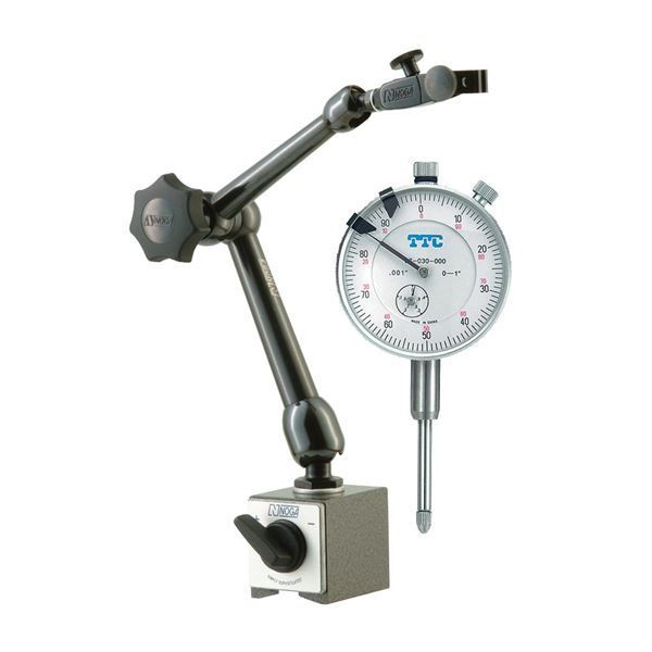 "NOGA MG61003 Mag Base & TTC #PDI-C2 1"" Dial Indicator Set"