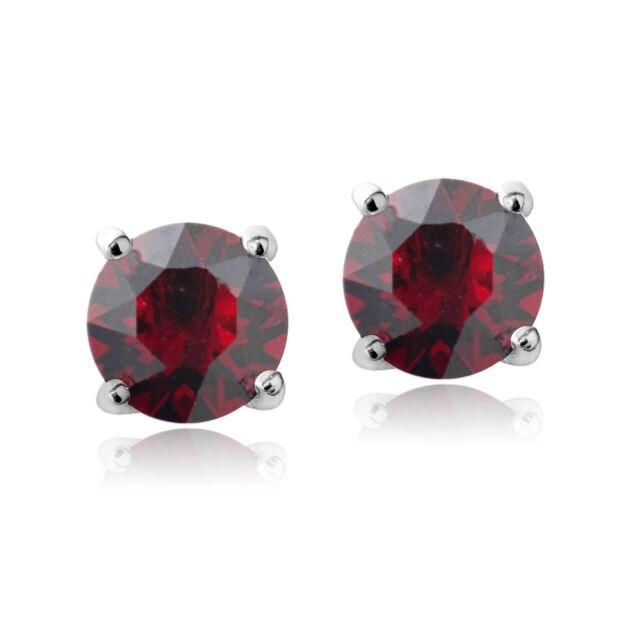 Swarovski Elements Ruby July Birthstone Stud Earrings