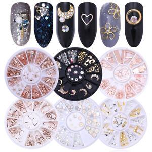 Glitter-Crystal-Smalto-per-Unghie-Punte-3D-Nail-Art-Decorazione-Strass-DIY