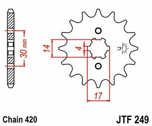 Kawasaki KLX110 03-09 JT and JT 420HDR 14//33 Chain and Sprocket Kit