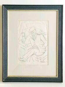 Marie-Marevna-Russian-1892-1984-Original-Drawing-Christie-039-s