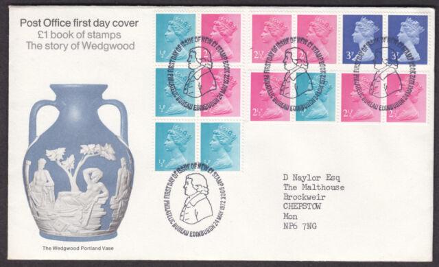 1972 WEDGWOOD MACHIN PANE ( WITH 1/2d SIDEBAND SGX842 ) FDC