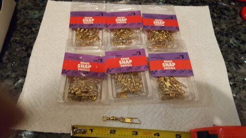 Jeros brass snap swivels 6 packs of 12 ZP055