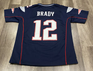 Details about NIKE ON FIELD NFL NEW ENGLAND PATRIOTS #12 TOM BRADY JERSEY YOUTH M EUC GOAT