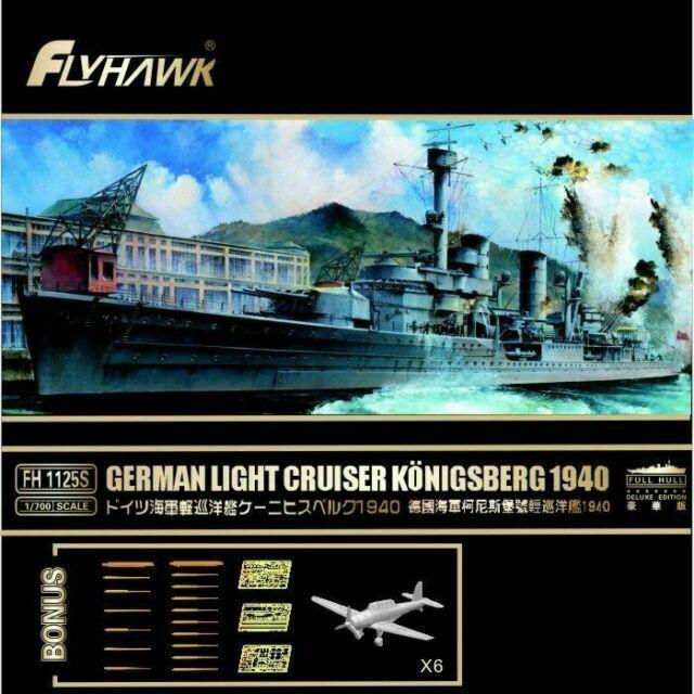 Flyhawk 1//700 FH1125 German Light Cruiser Koenigsberg 1940