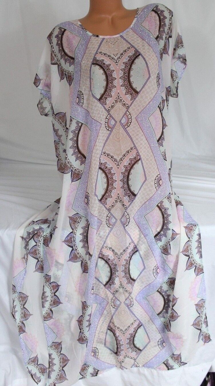 108 VICTORIA'S SECRET Swim Pastel Rhinestone Caftan Beach Cover-Up Maxi Dress
