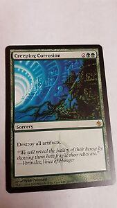 1x CREEPING CORROSION - Rare - Mirrodin Besieged  MTG - NM - Magic the Gathering