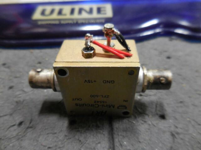 Mini-Circuits Zfl-500 Low Noise Amplifier Coaxial 50 Ohm 10 to 500 MHz