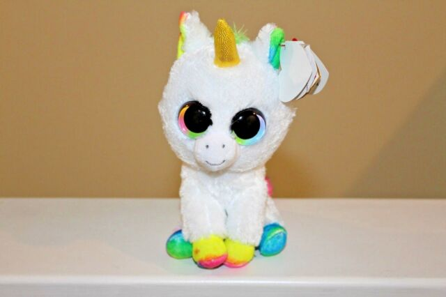 """TY BEANIE BOO PIXY UNICORN PRE OWNED WITH TAG GOOD CONDITION 15CM 6"""""""