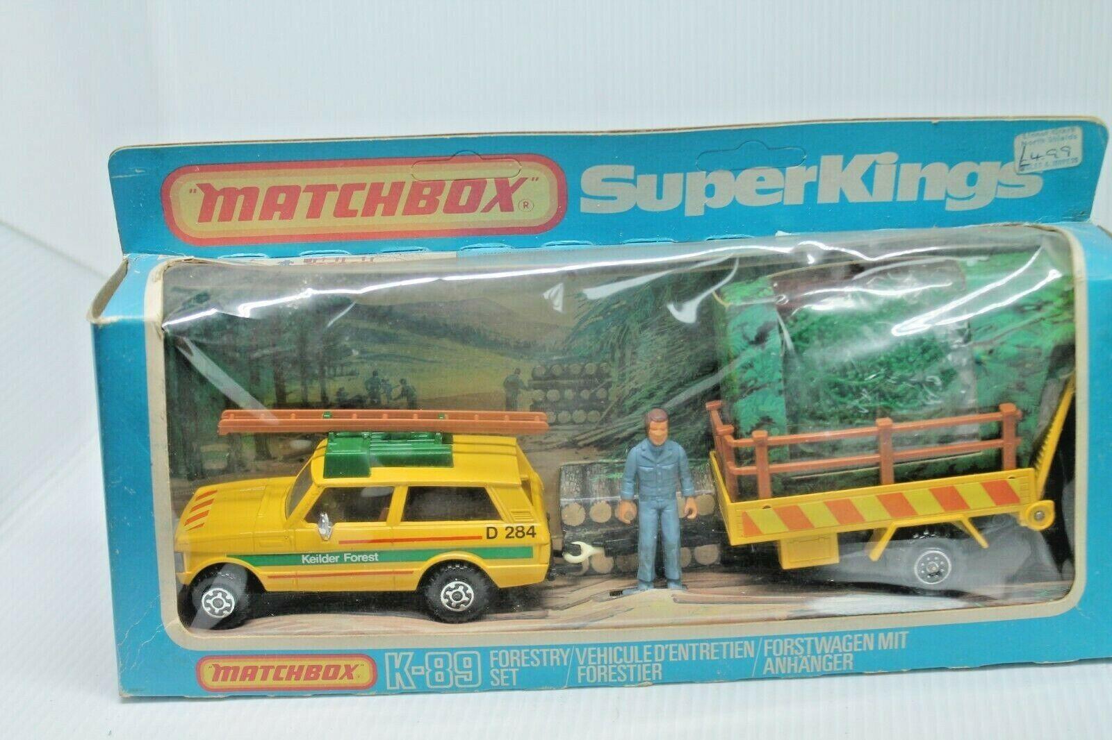 Matchbox súperkings k-89  range rover forstwagen con remolque  embalaje original  1979