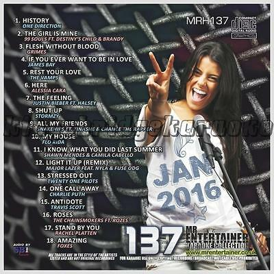 Precise Mr Entertainer Karaoke Chart Hits Vol 137 18 Tracks Musical Instruments & Gear Jan 2016 Cdg Cd+g Mrh137 Reputation First