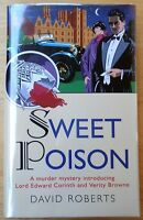 David Roberts Signed Book sweet Poison 1st/1st F/f Signed