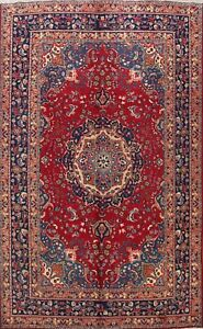 Vintage Traditional Floral Area Rug Wool Hand-knotted Oriental RED Carpet 6x9