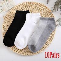 10 Pairs Men's Unisex Sport Cotton Casual Ankle Socks Women Low Cut Crew Socks