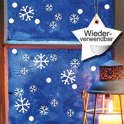 """4 Dekorativ Weihnachtsfenster Schablonen Schneeflocken Baum Schneemann /"""" Merry"""