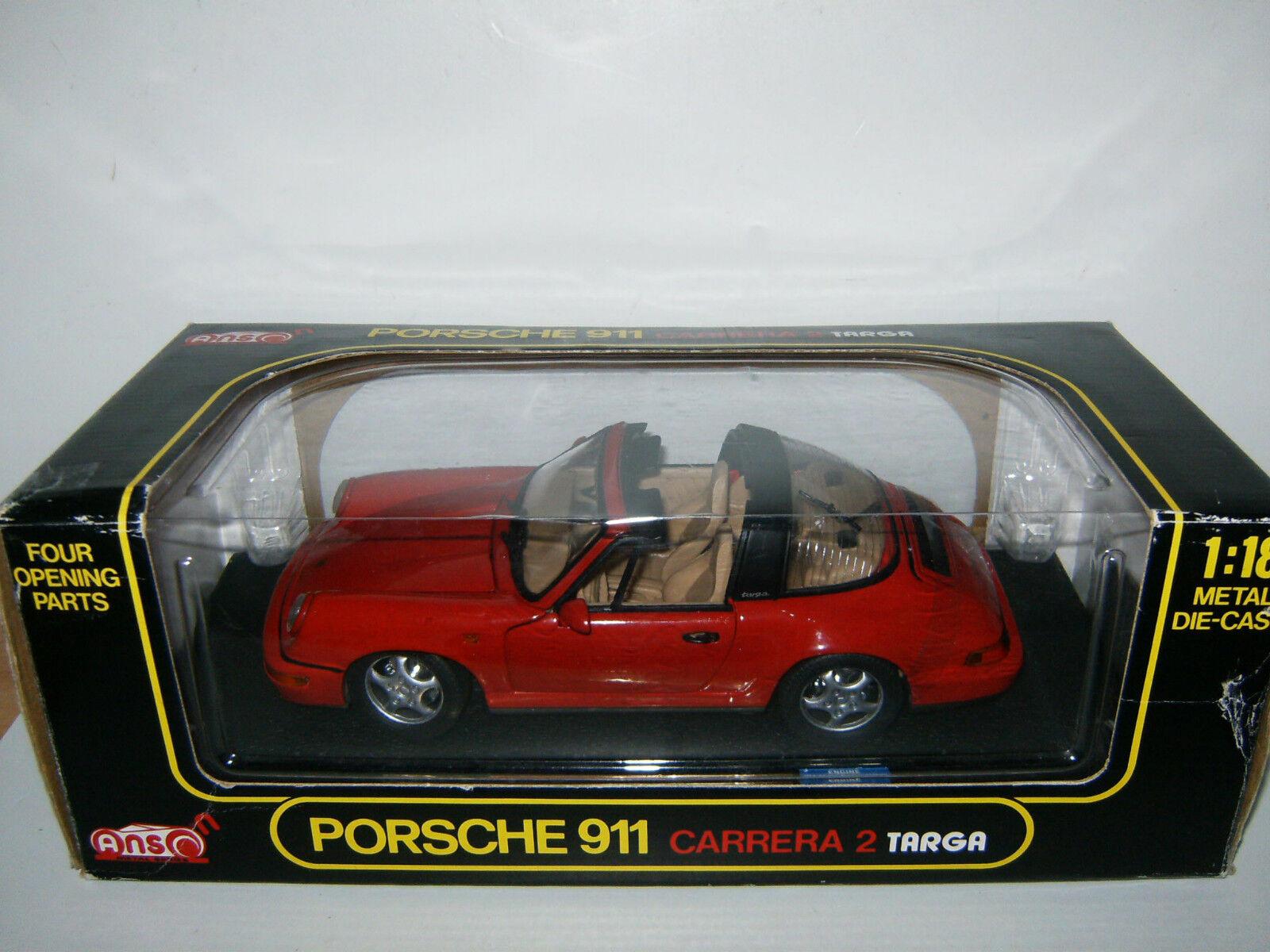 PORSCHE 911 CARRERA 2 TARGA Rouge   rouge par ANSON au 1 18