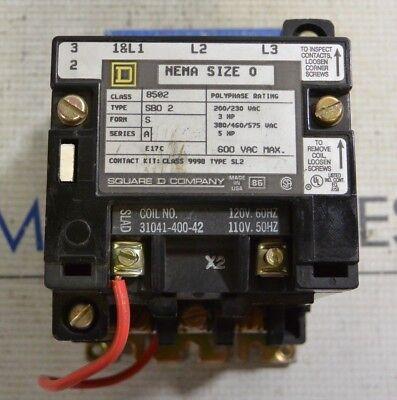 Square D 8910DPA32V09 40A 600V 208-240 60Hz Contactor