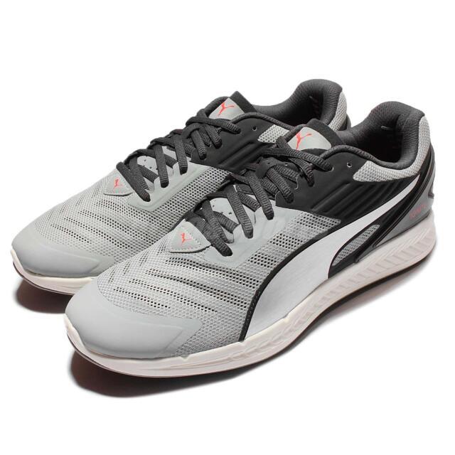 Puma Ignite V2 Silver Black Mens Cushion Running Shoes Sneakers 188611 04