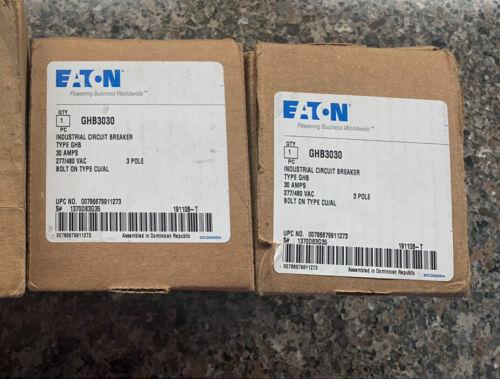 GHB3030 EATON Cutler Hammer 30 amp 3 pole 480 volt Circuit Breaker