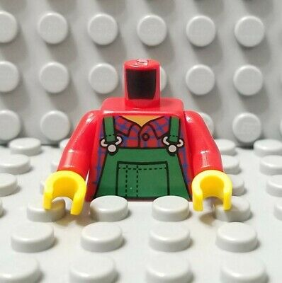LEGO New Red City Minifigure Torso with Red Swimsuit Pattern Straps on Back