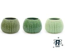 NEW VINTAGE RETRO STYLE SET OF 3 CERAMIC CACTUS GARDEN PLANTERS PLANT POTS