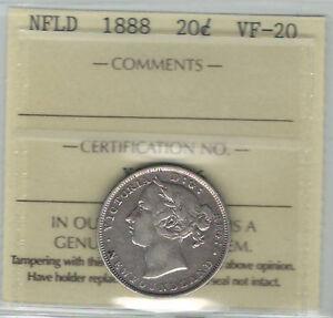 Canada-Newfoundland-NFLD-1888-20-Cents-ICCS-VF20-XOH-916