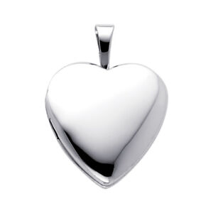 Heart shaped hinged locket stainless steel for pendant charms